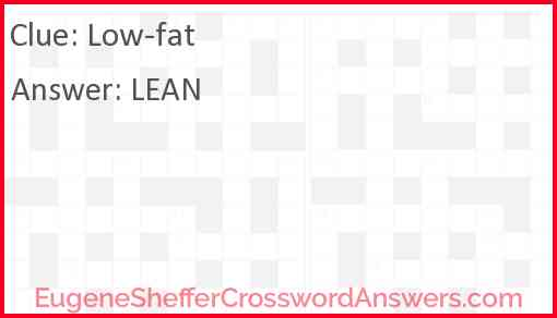 Low-fat Answer