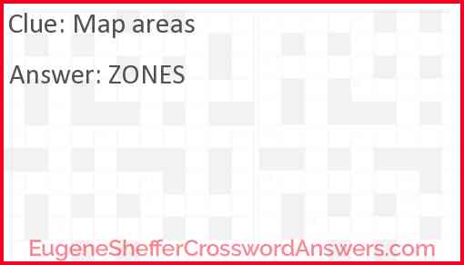 Map areas Answer