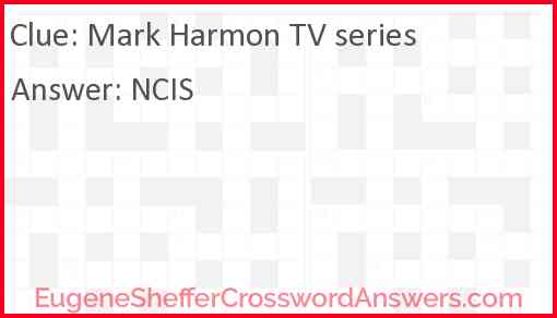 Mark Harmon TV series Answer