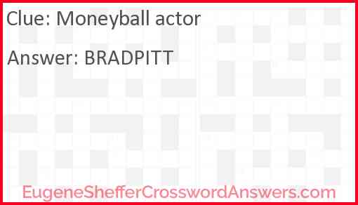 Moneyball actor Answer
