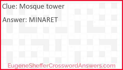 Mosque tower Answer