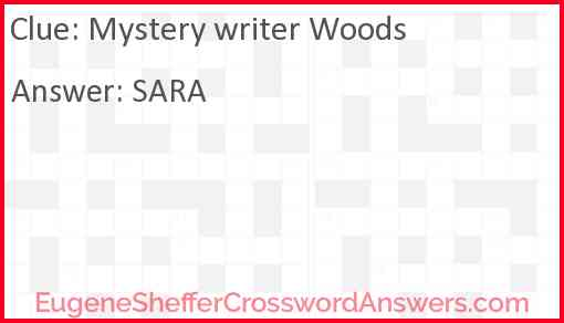 Mystery writer Woods Answer