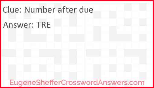 Number after due Answer