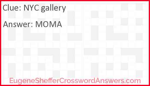 NYC gallery Answer