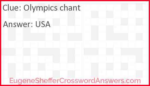 Olympics chant Answer