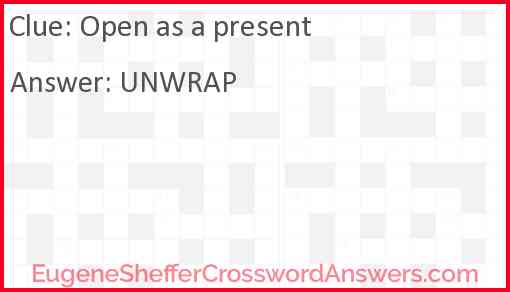 Open as a present Answer
