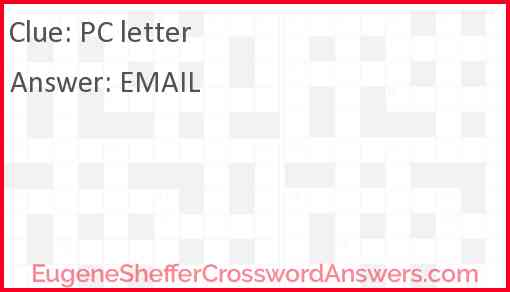 PC letter Answer