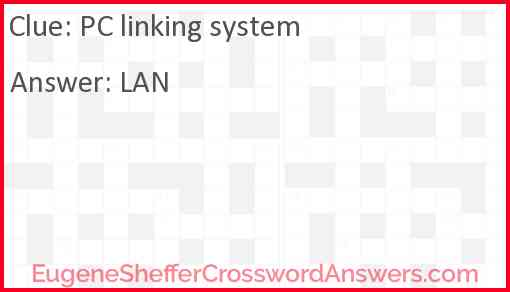PC linking system Answer