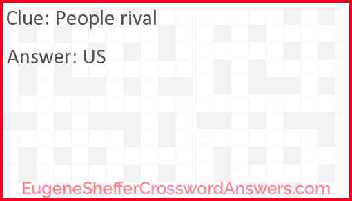 People rival Answer
