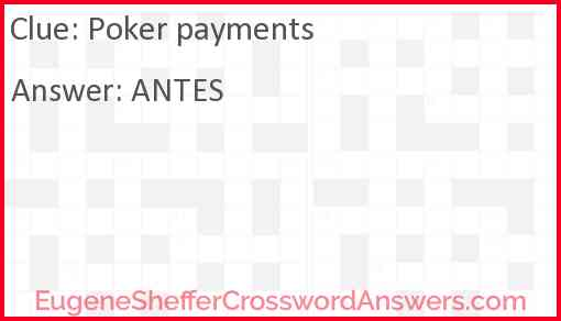 Poker payments Answer