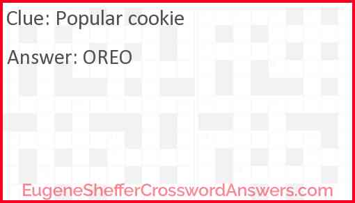Popular cookie Answer