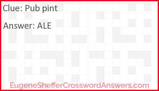 Pub pint Answer