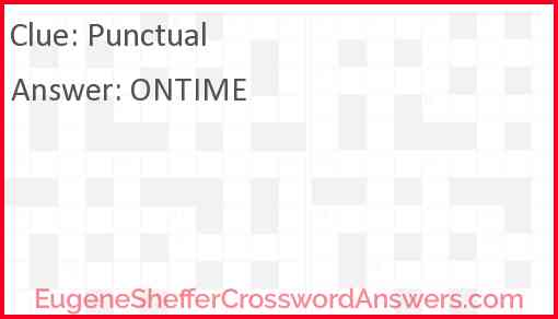 Punctual Answer
