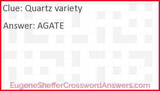 Quartz variety Answer