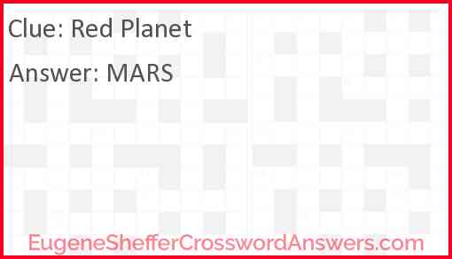 Red planet Answer