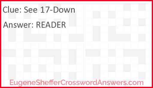 See 17-Down Answer