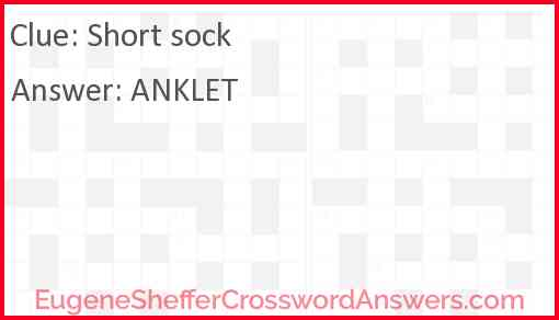 Short sock Answer