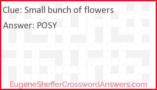 Small bunch of flowers Answer