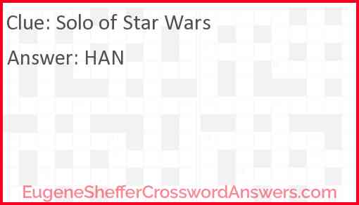 """Solo of """"Star Wars"""" Answer"""