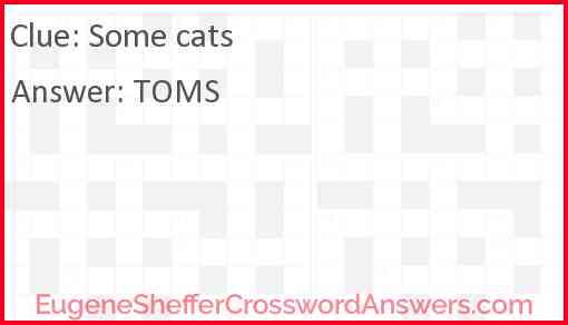 Some cats Answer