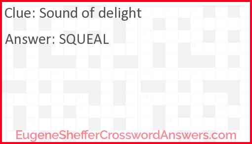 Sound of delight Answer