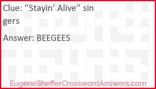 """""""Stayin' Alive"""" singers Answer"""