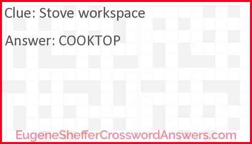 Stove workspace Answer