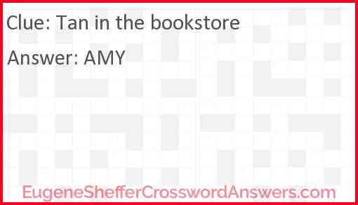 Tan in the bookstore Answer