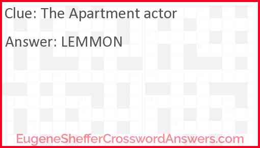 The Apartment actor Answer