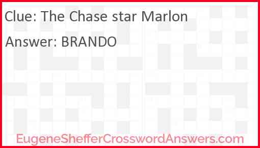 The Chase star Marlon Answer