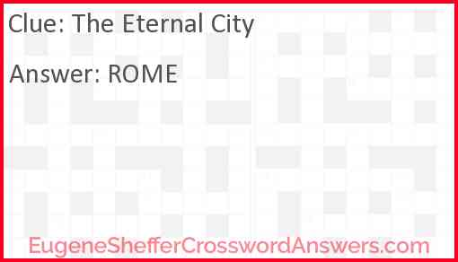The Eternal City Answer