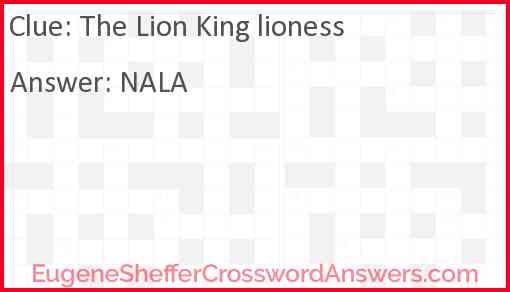 """""""The Lion King"""" lioness Answer"""