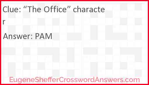"""""""The Office"""" character Answer"""