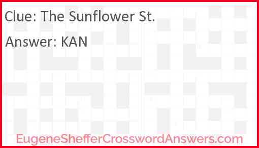 The Sunflower St. Answer