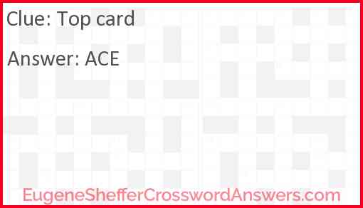 Top card Answer