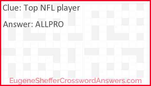 Top NFL player Answer