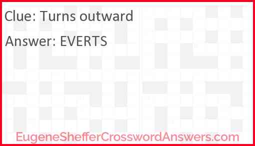 Turns outward Answer