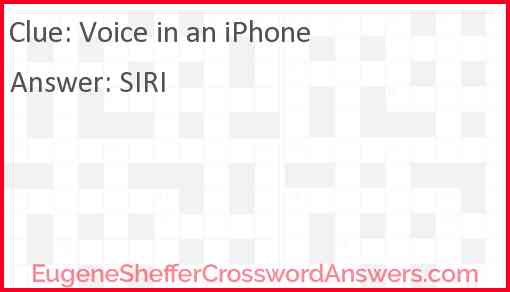 Voice in an iPhone Answer