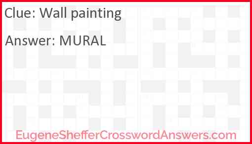 Wall painting Answer