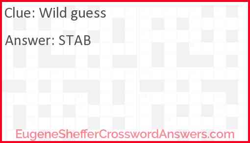 Wild guess Answer