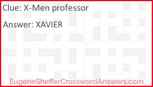 """X-Men"" professor Answer"