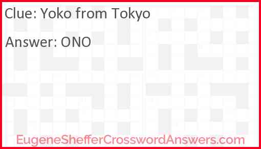 Yoko from Tokyo Answer